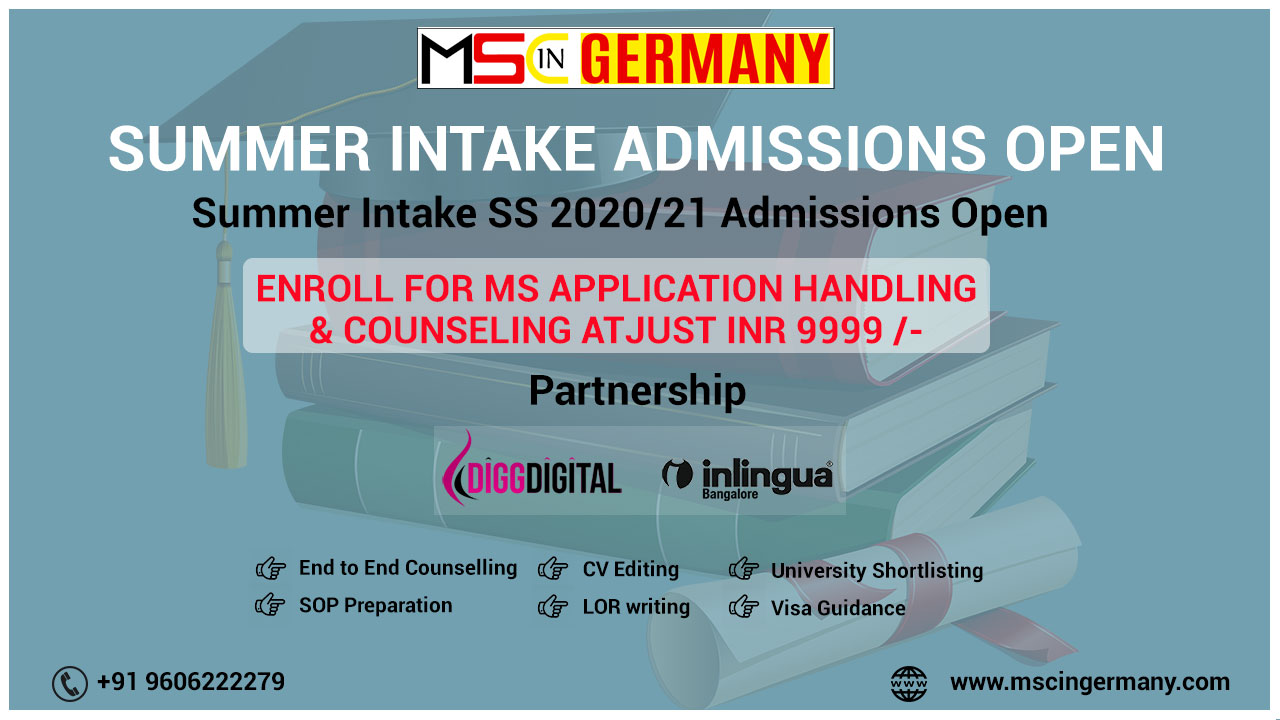 MSc in Germany Education Consultancy in Bangalore - MSc in Germany