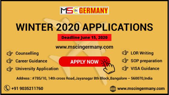 Ms In Germany Deadline